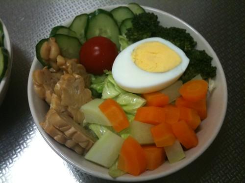 朝食サラダ(2011/4/22)