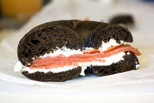 bagel w/ cream cheese & lox @ ess-a-bagel