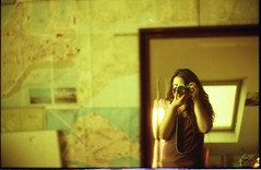 me and my destination (Nina Across the Universe) Tags: camera selfportrait film mirror lomo lomography nikon 50mm14 nina nikonfm2 fm2 redscale filmfilmfilm