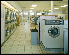 Laundromat in Findlay, Ohio (mat4226) Tags: longexposure ohio film kodak retro 8x10 laundry portra400nc f56 laundromat portra findlay fujinon largeformat rundown 400asa c41 filmphotography findlayoh 210mm tetenal homeprocessing eastmancommercialb believeinfilm