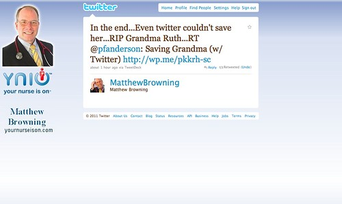 Saving Grandma (with Twitter)