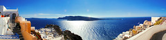 Oia / Santorini / Thira / Greece / Panorama (Jeka World Photography) Tags: world travel sea sky art jeff rose horizontal architecture outdoors island greek photography photo nikon day flag aegean nopeople panoramic explore santorini greece dramaticsky oia thira traditionalculture whitewashed jeka d60 aegeansea traveldestinations colorimage jeffrose buildingexterior greekculture horizonoverwater jekaworldphotography jeffrosephotography kalitharosephotography