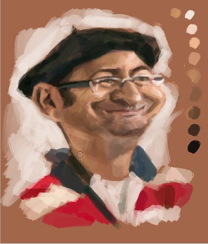 digital caricature of Tuncay Erol - 1