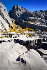 Marble karst (katepedley) Tags: park new autumn newzealand mountain rock contrast canon mt hiking erosion mount zealand alpine national nz limestone southisland 5d marble owen geology karst tramping 1740mm fluting massif polariser karstic rills rilling kahurangi