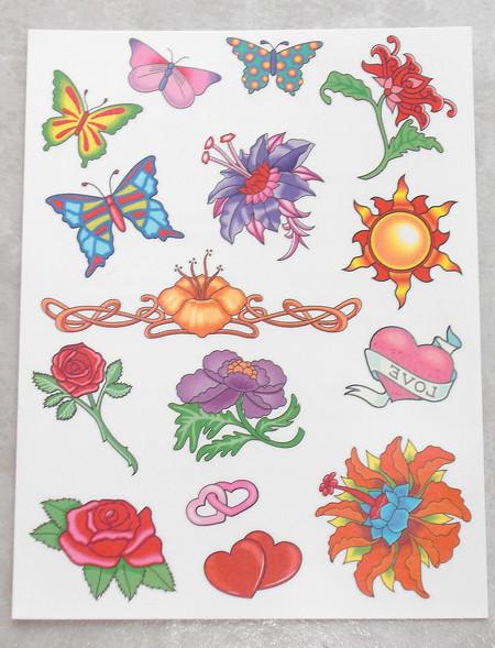 Coloured Temporary Tattoos