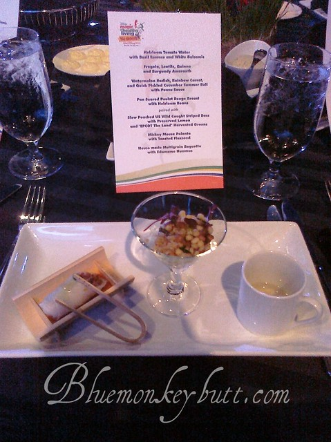 Dinner Menu for the Magic of Healthy Living Event