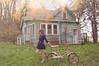 (yyellowbird) Tags: house abandoned girl bicycle lights illinois lolita cari oldskoolediting