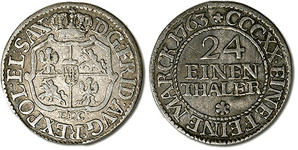 1763 24 Thaler of Saxony