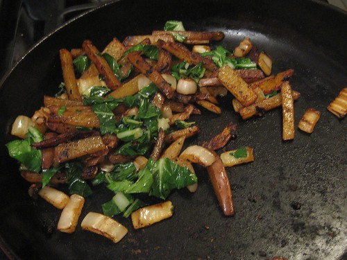Potatoes and Bok Choy with Balsamic and Garlic