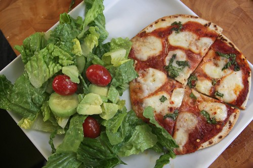 pizza & a salad