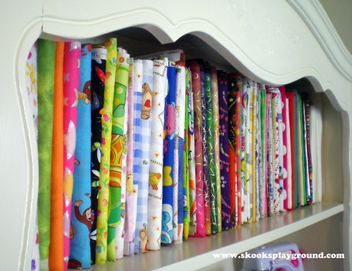 Fabric Stash - Freshly Organized!