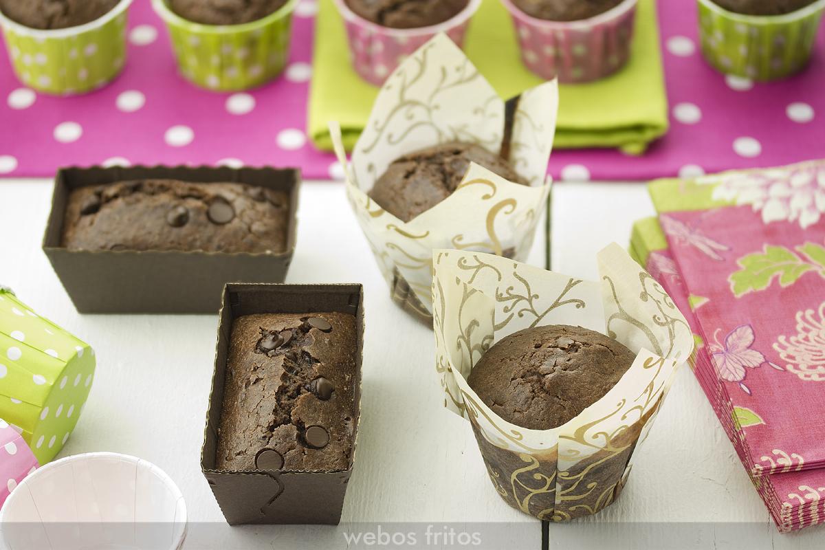 Muffins de chocolate en otros moldes