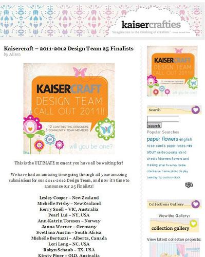 krafty pearl - kaisercraft 2011 dt 25 finalist