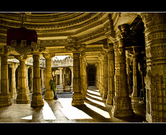 The pillars of belief (Explored) (PNike (Prashanth Naik)) Tags: light shadow india temple nikon worship god faith belief pillars jain rajasthan ranakpur jaintemple ranakpurtemples pnike