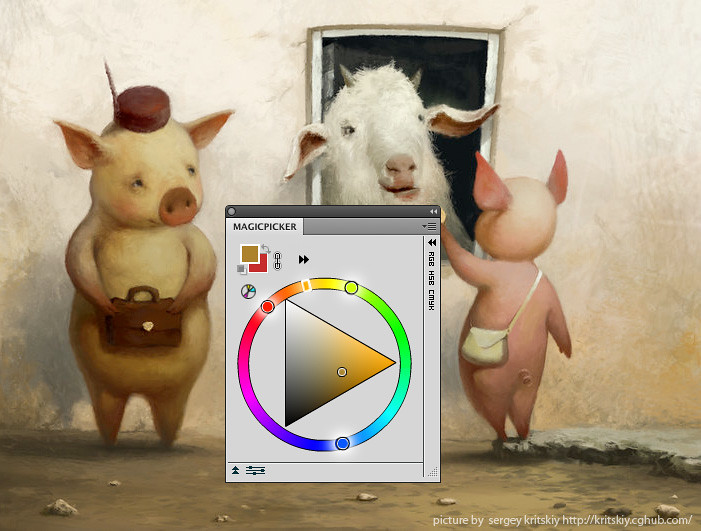 MagicPicker Photoshop Color Wheel with Color Schemes