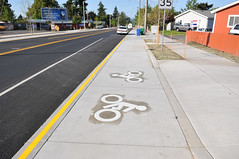 Cully Blvd cycle track-7