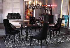 "4148 BLACK LACQUER DINING TABLE • <a style=""font-size:0.8em;"" href=""http://www.flickr.com/photos/43749930@N04/5744255138/"" target=""_blank"">View on Flickr</a>"