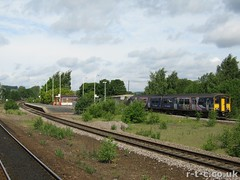 150274 at Mirfield Station (Tim R-T-C) Tags: railroad station train advertising track railway trains livery sprinter dmu northernrail mirfield class150 150274