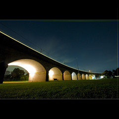 NIGHT PHOTOGRAPHY IS LIKE GOING FISHING (Jgor Cava) Tags: longexposure night train arch sydney railway australia luci treno notte glebe rozelle archi bicentennialpark ferrovia scia lungaesposizione railwayinfrastucture