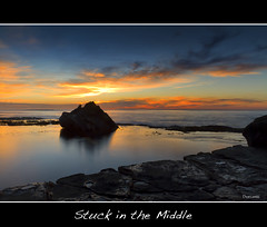 stuck in the middle (The0dora Photography) Tags: red colour beach water sunrise coast rocks central sigma 1770 forresters dorcam17