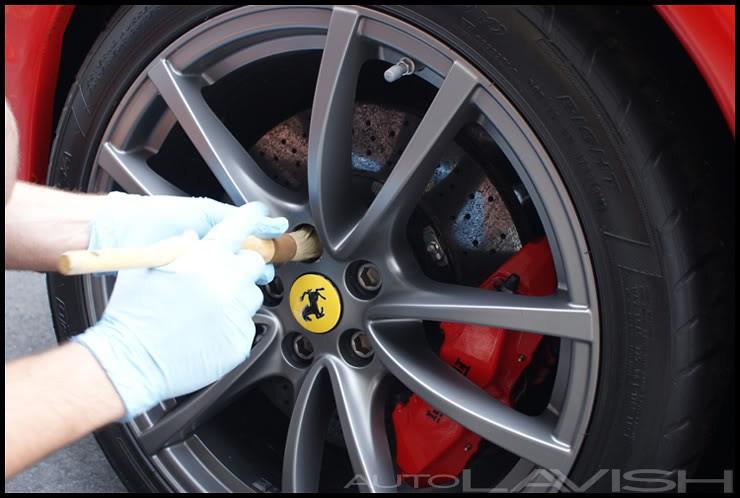 ferrari scud wheel cleaning