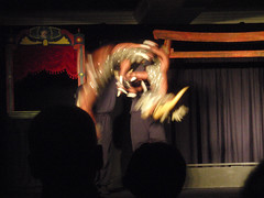 dragon puppet in flight (Vagabond Jewelry (Kest)) Tags: festival nashville puppet tada 2011 nashvillepubliclibrary 149365 tada365 tada2011 downtownpuppetfestival