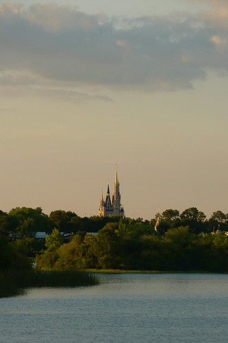 View of the castle from the Polynesian