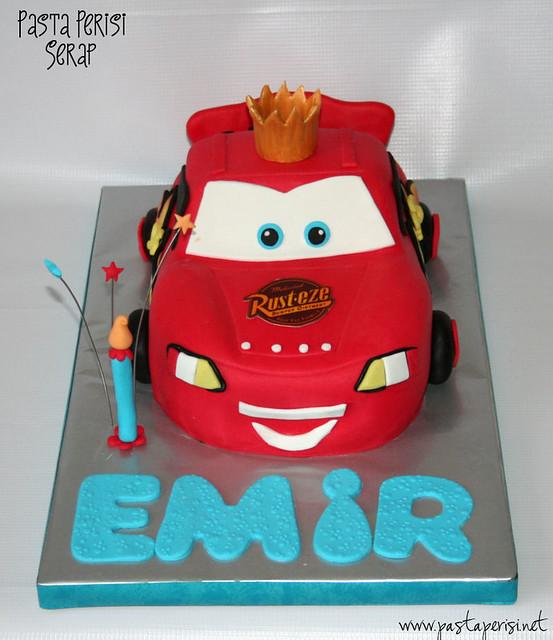 Şimşek mc queen cake -Emir