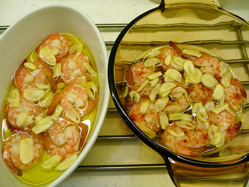 Spanish-style Baked Shrimps - out from the oven