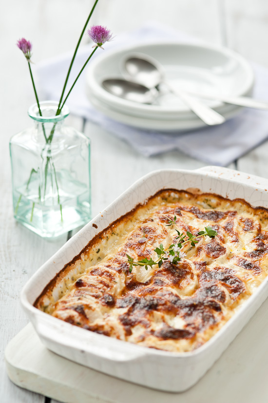Turnip gratin with thyme