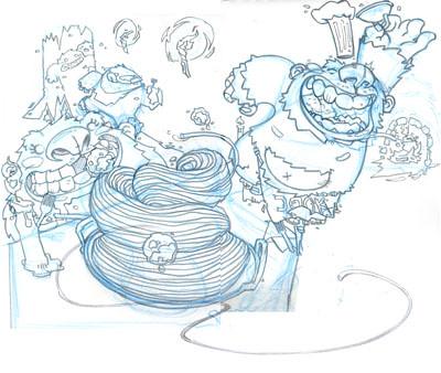 Yeti Spaghetti_Sketch