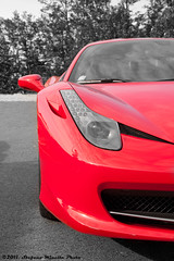 Ferrari 458 Italia - Eye (Stefano.Minella) Tags: red eye photoshop canon logo eos is photo italia doors with post 33 ferrari l production usm ef f4 xenon stefano lightroom lambo 500d 458 2011 minella 24105mm lambodoors cs5 worldcars mygearandme