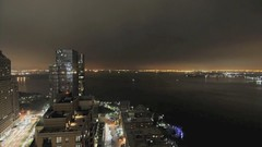 Short Attention Span Theatre:  Downtown Thursday Night (Jay Fine) Tags: newyork night clouds boats timelapse statueofliberty ellisisland weststreet nyharbor