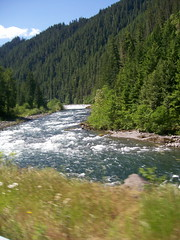 Fast moving water on the Clackamas River