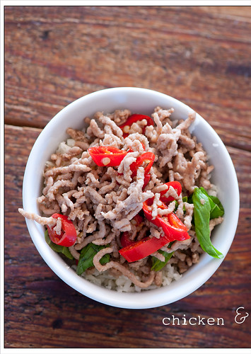 stir fry of chicken & basil recipe5