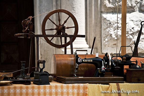 An old sewing machine
