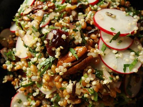 Radish Pecan Grain Salad
