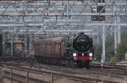 70013 Oliver Cromwell: The Norfolkman, Pudding Mill Lane July 2nd 2011