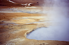 Hot Spring (thecheekyscamp) Tags: film water 35mm vent iceland fuji slide steam 100 positive bubbling sensia steaming