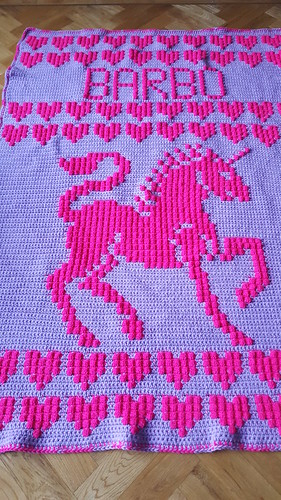 Unicorn blanket for Barbara