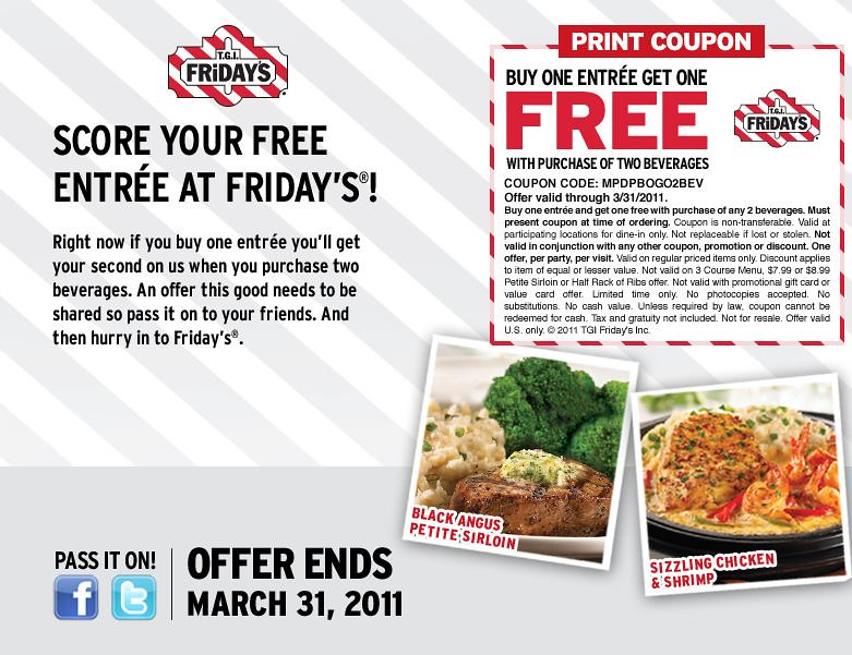Free appetizer tgi fridays printable coupon - Free coupons by mail