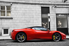 Mr. Perfect - Explored (Lucian Bickerton) Tags: uk red england italy horse black holland london yellow speed lens italia power capital curves nederland ferrari gb nikkor polarizer maranello hoya prancing calipers 458 aerodynamics misterperfect 18135mm lucianbickerton