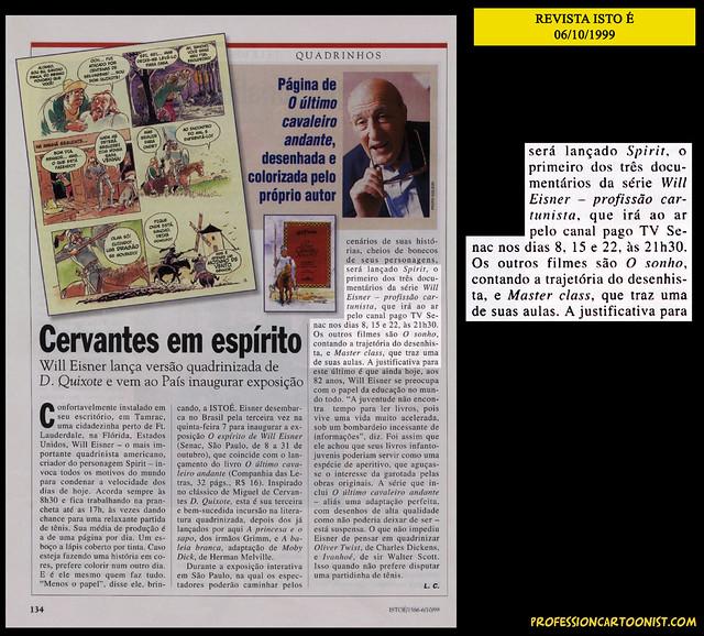 """""""Cervantes em espírito"""" - Revista Isto É - 06/10/1999"""