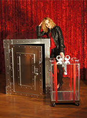 Dayle Krall's Vault and Water Cell Escape (SherryandKrallMagic) Tags: water extreme vault handcuffs cubed escapes harryhoudini daylekrall femaleescapeartist underwatercell sherryandkrallmagic
