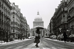 La Traversée de Paris (Airicsson) Tags: street urban blackandwhite bw white snow black paris film vintage minolta 101 latin symetry panthéon quartier streetshot srt