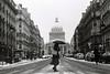 La Traversée de Paris (Airicsson) Tags: street urban blackandwhite bw white snow black paris film vintage minolta 101 latin symetry panthéon quartier streetshot srt