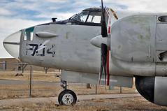 Lockheed SP-2E nose (skyhawkpc) Tags: nikon colorado aircraft aviation pueblo navy co wright lockheed naval neptune usnavy usn patrol allrightsreserved r3350 d90 radialengine vp19 p2v5 sp2e duplexcyclone pwam garyverver puebleweisbrodaircraftmuseum 128402 pe204