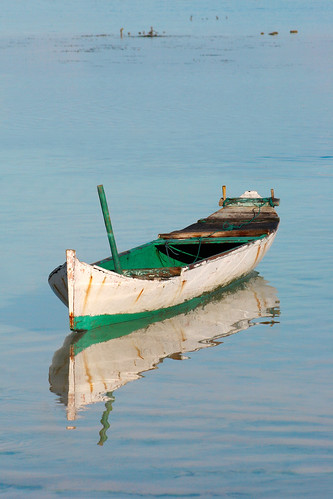 A lonely boat in Timor, Indonesia.