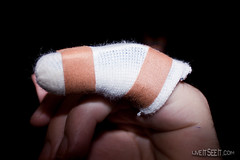 March 15. More than Sprained (In the Smoke) Tags: finger injury 365 fracture splint 2011