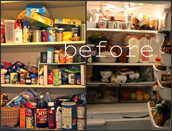 pantry-fridge before